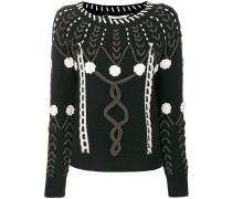 stitch patterned sweater