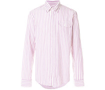 oxford striped button-down shirt