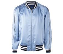 contrast trim bomber jacket - men