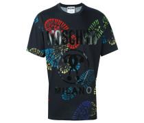 T-Shirt mit Schuhabdruck-Print