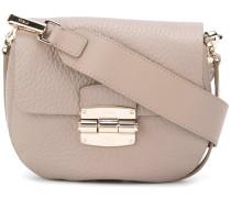 clasp fastening shoulder bag
