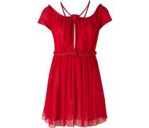 - Schulterfreies Seidenkleid mit Kordeldetails