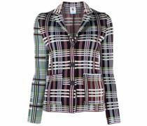 plaid-check jacket