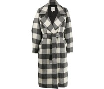 oversized checked trench coat