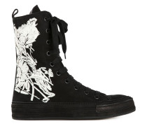 High-Top-Sneakers mit Blumen-Print