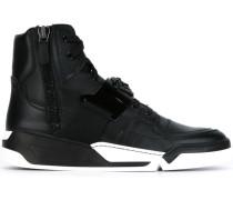 High-Top-Sneakers aus Kamelleder