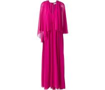 Drapiertes Cape-Kleid aus Tüll