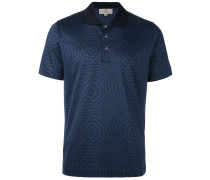 twisted houndstooth polo shirt
