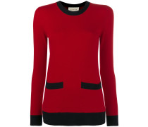 Crew Neck Cashmere Jumper with Front Pockets