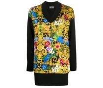 Langer Pullover mit barockem Print