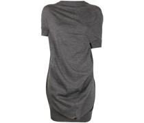 Langer Pullover mit Drapierung