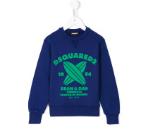 Sweatshirt mit Surfbrett-Print
