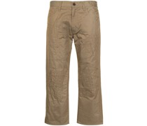 Bestickte Cropped-Chino