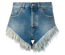 Jeansshorts mit Federsaum