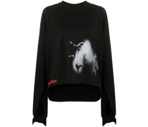 'Performa' Sweatshirt mit Cut-Outs