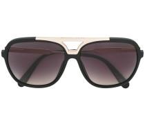 Sonnenbrille mit goldfarbenem Balken