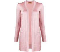 Langer Metallic-Cardigan