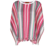 knitted patterned poncho