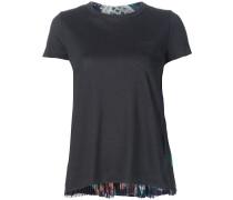 T-Shirt mit plissiertem Einsatz