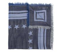 logo star-patch scarf