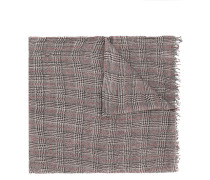checked patterned shawl