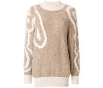 oversized patterned jumper