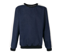 denim sweatshirt