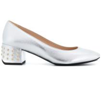 studded heel pumps