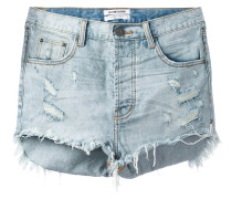 frayed denim shorts - women - Baumwolle - 27