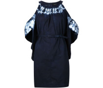 Schulterfreies Kleid mit Batikmuster