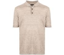 Poloshirt aus meliertem Strick