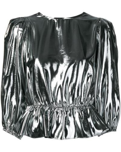 Oberteil im Metallic-Look