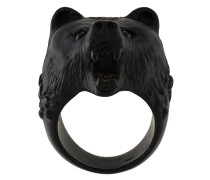 Ring mit Bärenkopf-Design