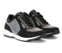 Sneakers mit Glasverzierungen