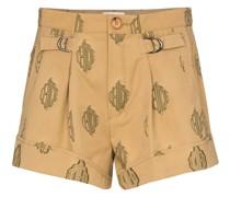 Jacquard-Shorts mit Monogramm