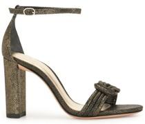Sandalen in Metallic-Optik