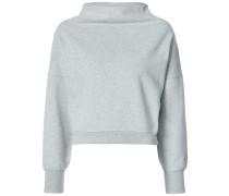 Cropped-Sweatshirt mit weitem Stehkragen
