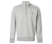 Meliertes Sweatshirt mit Reißverschluss