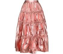 Eve lamé-effect tiered skirt