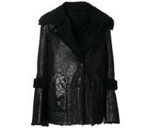 Oversized-Jacke mit Shearing-Kragen