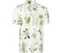 Poloshirt mit Blumen-Print