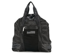 graphic print gym backpack