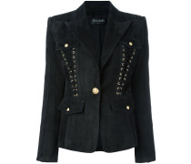 lace-up detailed blazer