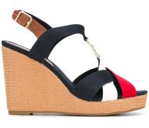 Wedge-Sandalen mit Logo-Schnalle