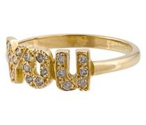 18kt 'YOU' Goldring mit Diamanten