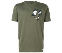 T-Shirt mit Schmetterlings-Applikationen