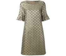 Jacquard-Kleid mit halblangen Ärmeln