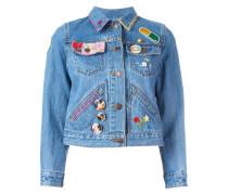 Cropped-Jeansjacke mit Verzierung