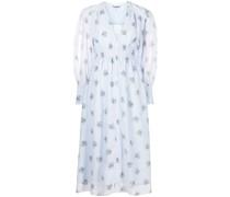 Geblümtes Kleid mit Puffärmeln
