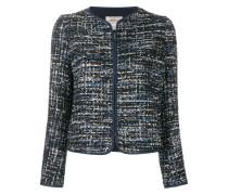 Tweed-Jacke mit Reißverschluss